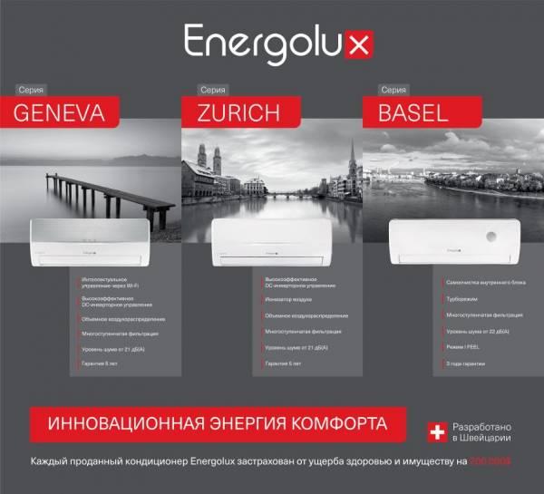 Обзор кондиционеров Energolux